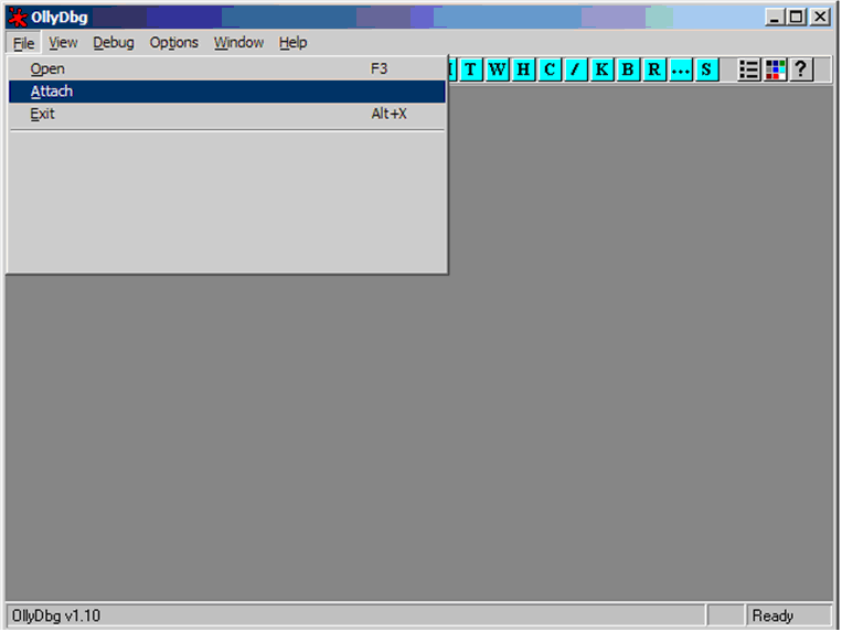 File -> Attach